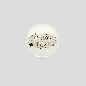 """""""Ceramics Diva"""" [brown] Mini Button"""